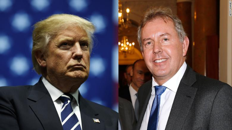 Trump says US will no longer deal with British ambassador after leaked anti-Trump cables