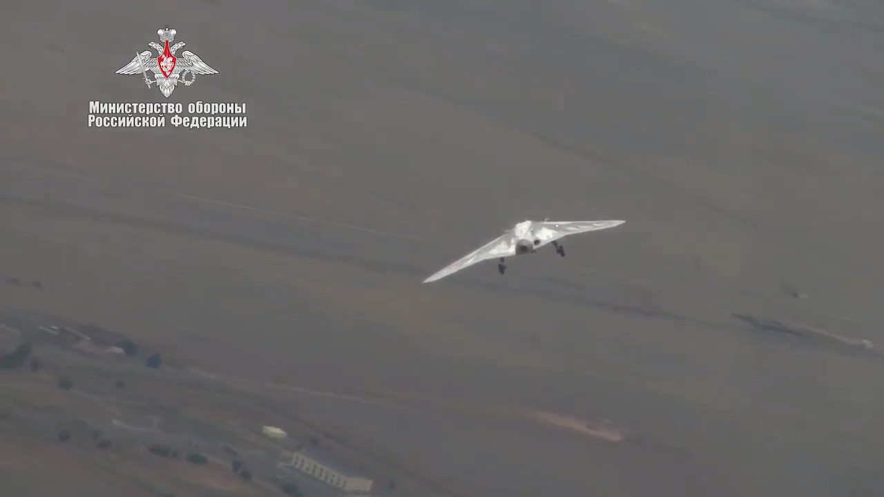 Russia has released footage of its new Hunter stealth attack drone