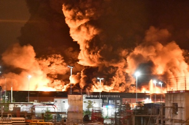 Huge fire in French chemical plant tackled by more than 100 firefighters