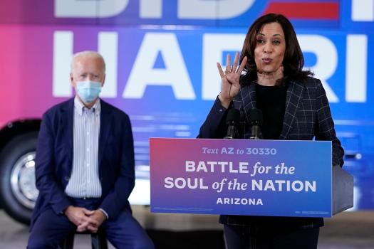 Biden campaign halts Kamala Harris travel after two people in campaigns orbit test positive for coronavirus