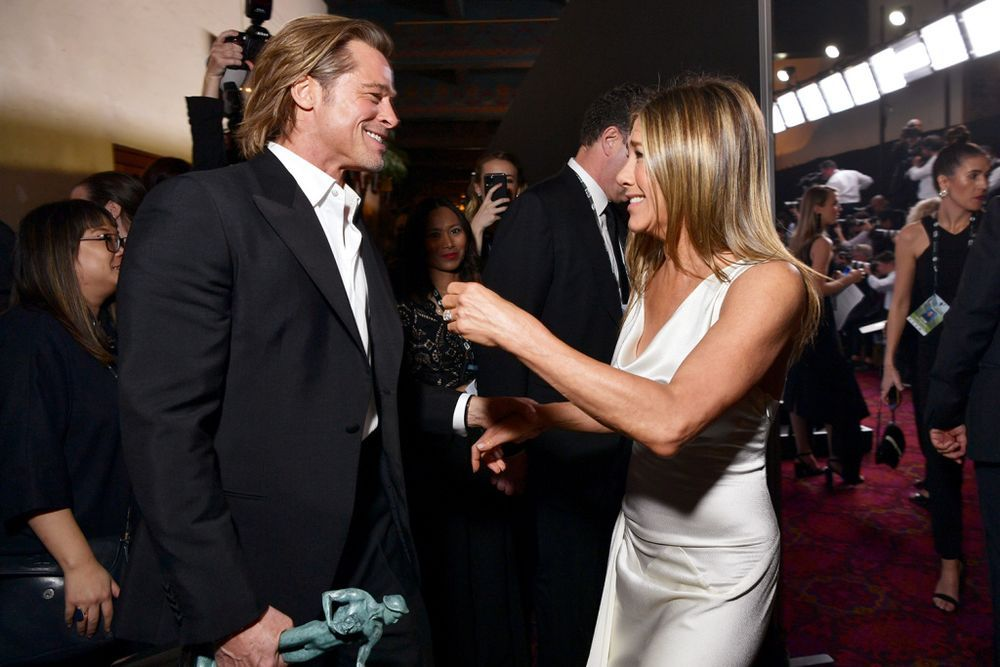 Jennifer Aniston Says It Was Sweet to Have Brad Pitt Watch Her Accept SAG Award