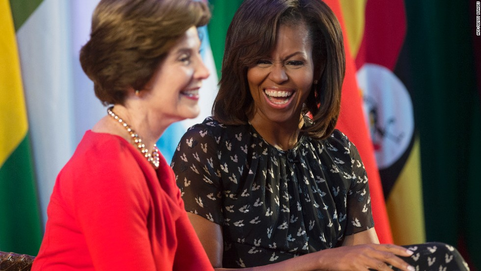 Laura Bush and Michelle Obama share hopeful message on Global Citizen concert special