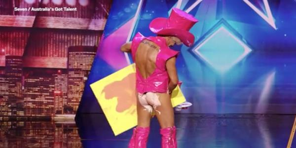 Australia's Got Talent Contestant Pricasso Paints Portrait With His Penis And Nicole Scherzinger's Reaction Is All Of Us