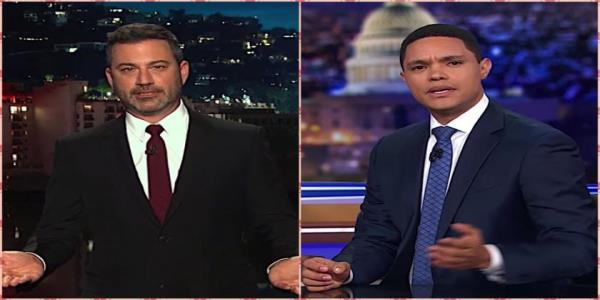 Jimmy Kimmel and Trevor Noah offer thoughts, not jokes, about the weekends mass shootings