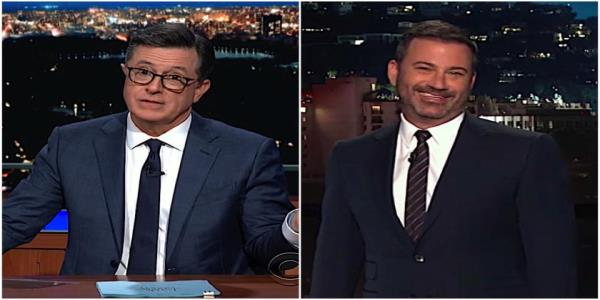 Jimmy Kimmel and Stephen Colbert are a little creeped out by Trumps correspondence with world leaders