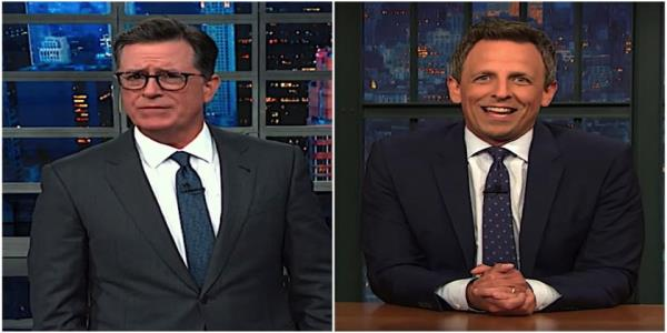 Stephen Colbert is amused at Trumps childish love of trucks. Seth Meyers explains how Trump is hosing truckers