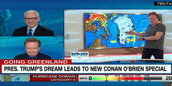Conan OBrien really did go to Greenland. Anderson Cooper cracks up as Conan previews his travelogue