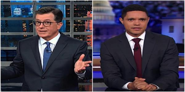 Stephen Colbert and Trevor Noah are worried about Hurricane Dorians aftermath, Trumps mental acuity