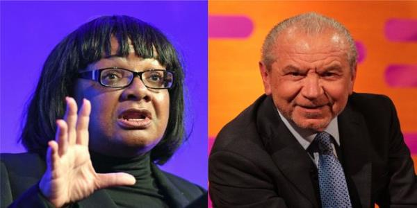 Diane Abbott Accuses Lord Sugar Of Harassment, Sparking Twitter Campaign