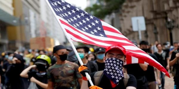 Hong Kong Protesters Wave the American Flag, but Is It Too Late?
