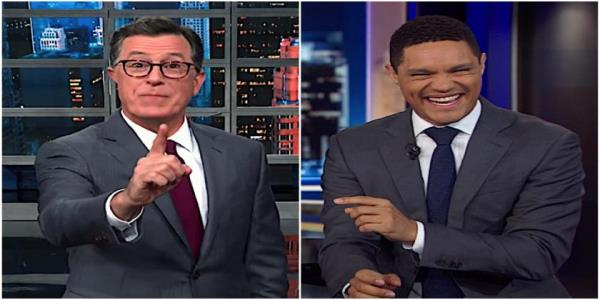 Trevor Noah and Stephen Colbert explain Boris Johnsons Brexit fiasco, find some silver linings