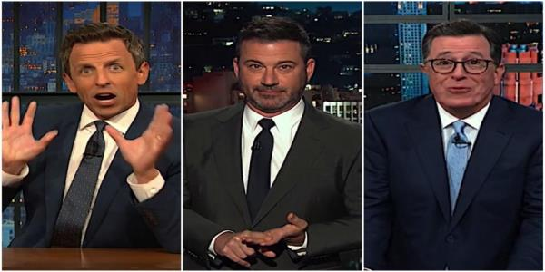 Stephen Colbert, Jimmy Kimmel, and Seth Meyers are getting worried about Trumps Alabama hurricane obsession