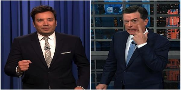 Stephen Colbert and Jimmy Fallon recap CNNs 7-hour climate change event, fixate on Bidens bleeding eye