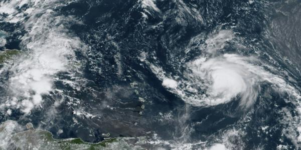 Jerry becomes Category 1 hurricane swirling in Atlantic