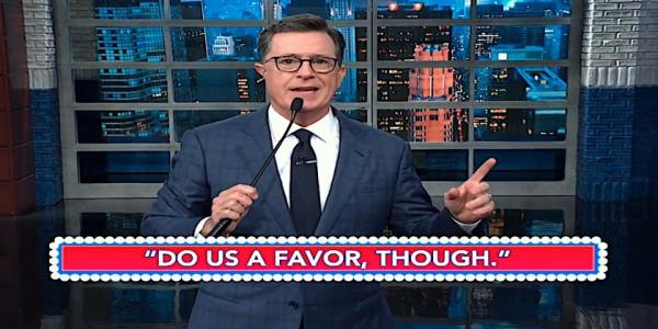 Stephen Colbert is pretty sure Trump just impeached himself