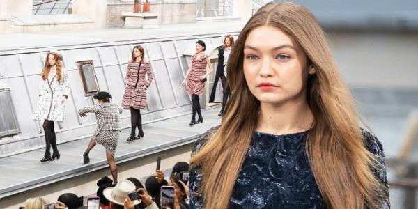 Comedian Gatecrashes Chanel Catwalk – Much To Gigi Hadids Disapproval