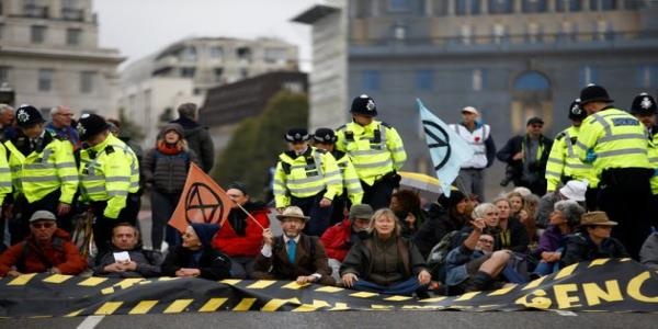 Extinction Rebellion's Westminster Shutdown Kicks Off With More Than 200 Arrests On First Day