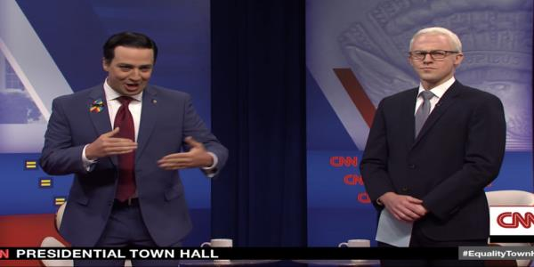Billy Porter, Woody Harrelson, and Lin-Manuel Miranda help SNL lampoon CNNs Equality Town Hall
