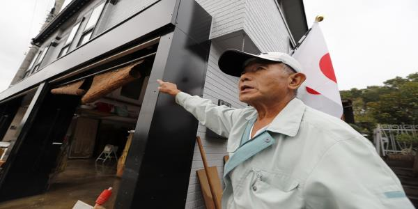 Japan storm survivors though worst was over, then it flooded
