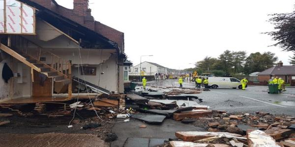 A Burst Water Main Has Just Destroyed A House In The West Midlands