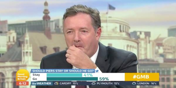 Piers Morgan Isn't Happy After Good Morning Britain Viewers Vote For Him To Be Axed From ITV Show