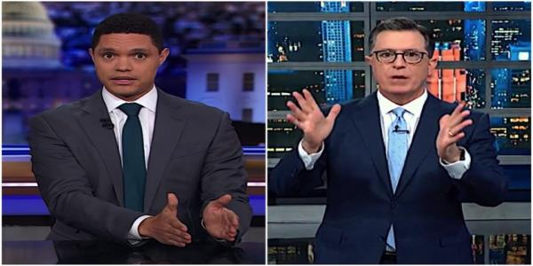 Stephen Colbert and Trevor Noah hit Trumps insane but unifying Kurdish betrayal, suggest a Kurd pro quo