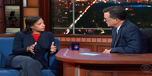 Susan Rice tells Stephen Colbert why Trump is batsh-t crazy to abandon the Syrian Kurds