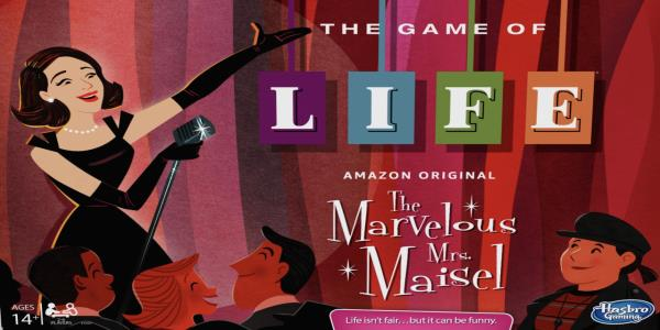 Live out your stand-up comedy dreams with a Marvelous Mrs. Maisel edition of the Game of Life