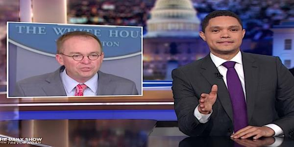 Trevor Noah is gobsmacked by Mick Mulvaneys quid pro quo confession, todays 6 other Trump scandals