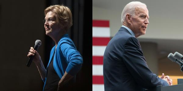 Warren Derides Biden as Running in 'Wrong Presidential Primary'