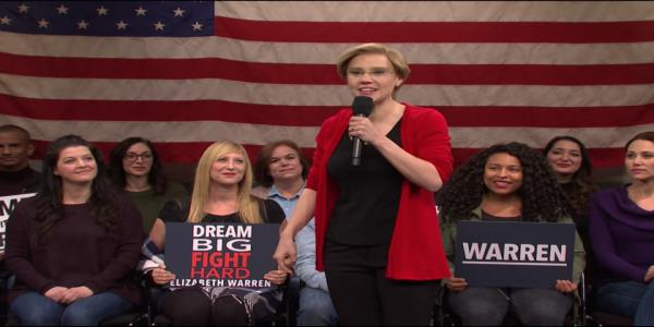 SNL spoofs Elizabeth Warren in latest cold open
