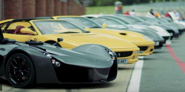 Gordon Ramsey Drives Dozens Of His Insane Cars On Track