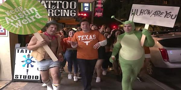 Jimmy Fallon panders to Texas shamelessly at his Austin show, and Texas is there for it