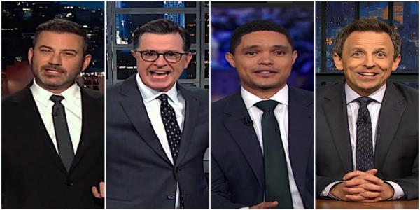 Late night hosts razz Fox News, GOP for saying Trumps impeachment should have pizzazz and sex appeal