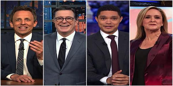 Late night hosts recap Day 1 of the Trump impeachment hearings