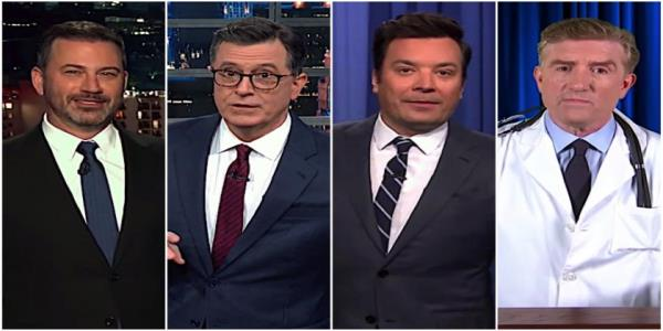 Late night hosts have healthy guesses about Trumps mysterious physical exam, mockery of GOP sycophancy
