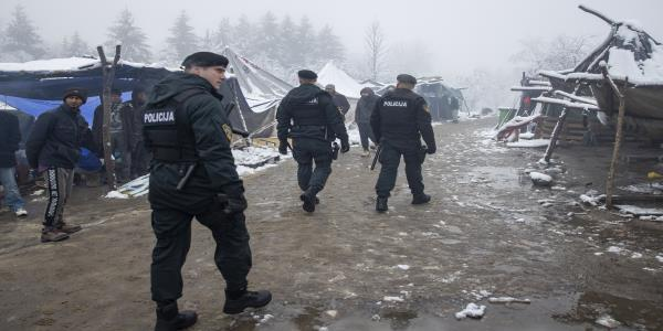 European official urges closure of Bosnian migrant camp