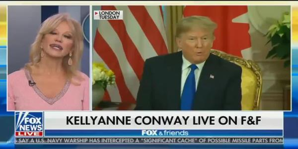 WH counselor Kellyanne Conway calls video of Trudeau laughing at Trump childish, churlish