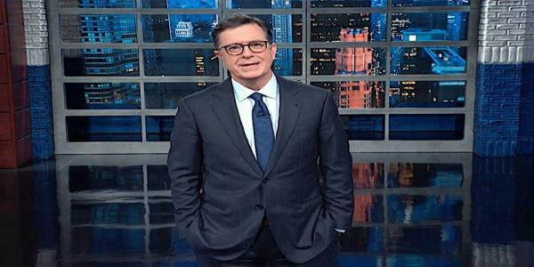 Stephen Colbert only half-laughs at Trumps brazen fabrications on the DOJ inspector generals FBI report
