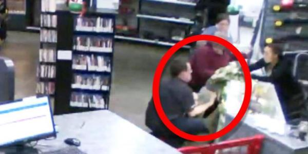 Store Owner Miraculously Catches Baby as He Falls Off Glass Counter