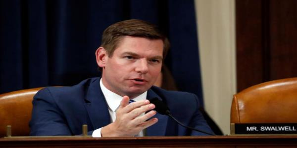 Rep. Eric Swalwell tells GOP colleagues while they defend Trump, Democrats defend the Constitution