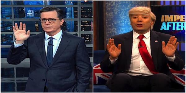 Stephen Colbert and Jimmy Fallon take stock of Trumps impeachment as it hits the Judiciary Committee