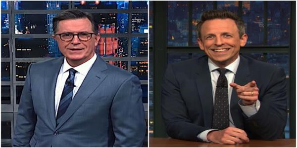 Stephen Colbert and Seth Meyers seem pretty sure Senate Republicans will break their impeachment oaths