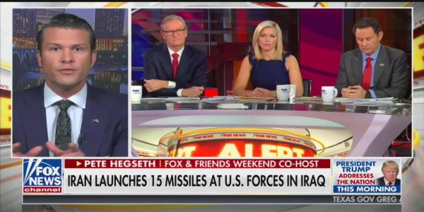 Fox News' Pete Hegseth: We Need to 'Rewrite the Rules' of War in Dealing With Iran