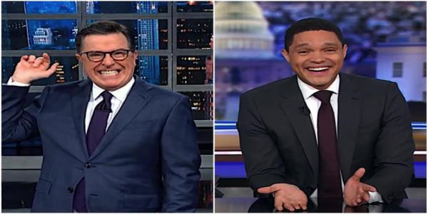 Stephen Colbert and Trevor Noah agree the Warren-Sanders showdown was the Iowa debates main event