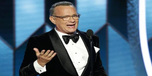 Tom Hanks delivers emotional Golden Globes speech while accepting Cecil B. DeMille Award