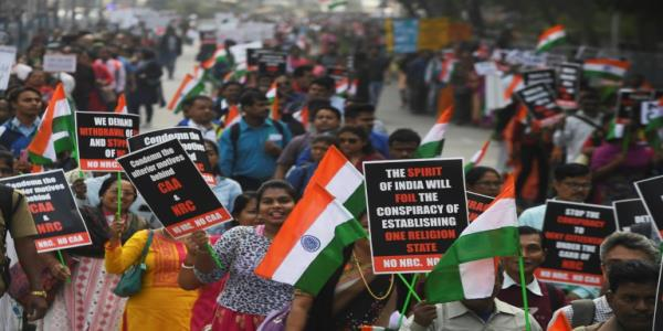 Indian Christians protest against anti-Muslim law