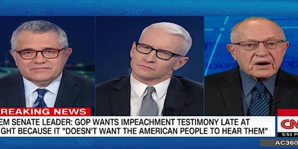 Dershowitz tells CNN he wasnt wrong about Clintons impeachment but is far more correct defending Trump
