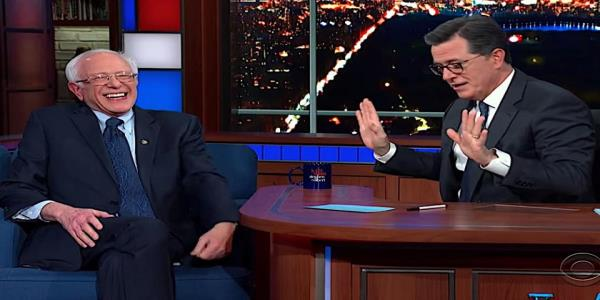 Bernie Sanders tells Stephen Colbert he agrees with GOP Sen. Mike Lee about the Constitution