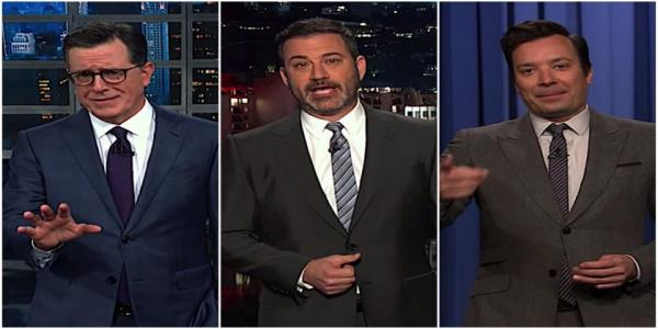 Stephen Colbert, Jimmy Kimmel, and Jimmy Fallon see impeachment angst in Trumps craving for crowds